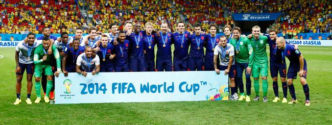 Holland firar VM-bronset