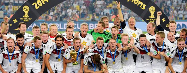 Tyskland firar VM-guldet