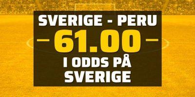 Sverige Peru odds