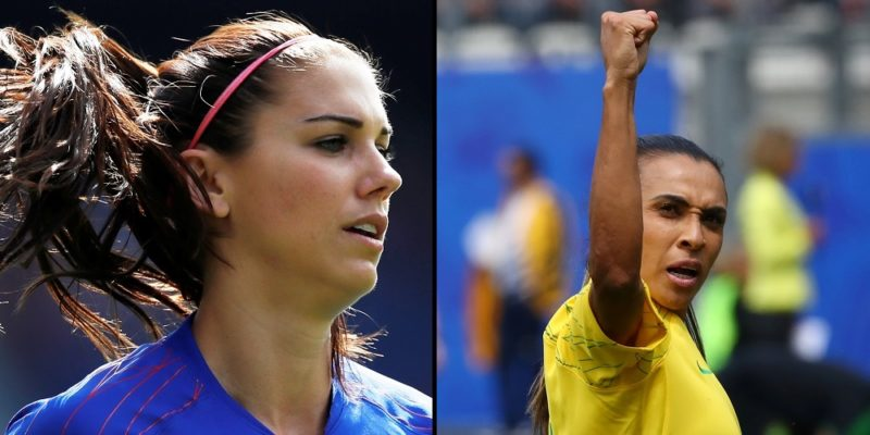 Alex Morgan, USA och Marta, Brasilien