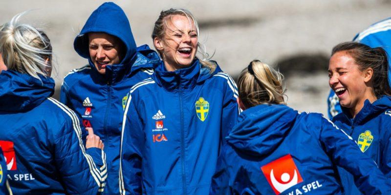Svenska landslaget träning