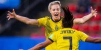 Sverige vinner mot Chile i fotbolls VM 2019