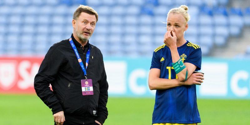 Peter Gerhardsson och Caroline Seger