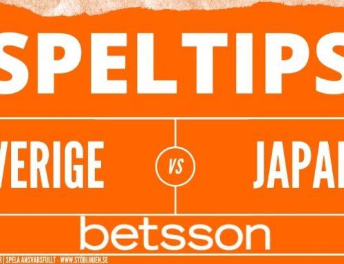 Speltips 30/7 | Fotbolls-OS | Sverige – Japan