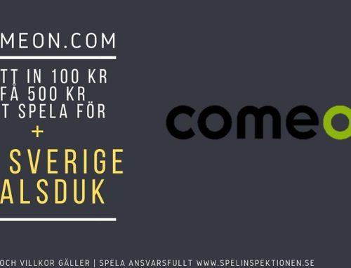 Välkomstbonus hos ComeOn – Få en Sverige halsduk utöver vanliga erbjudandet