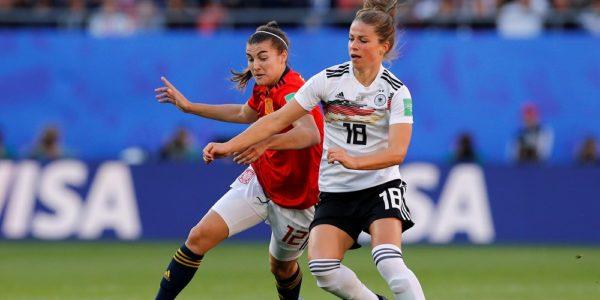 Spanien Tyskland i dam fotbolls VM 2019