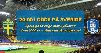 Sverige sydkorea super odds