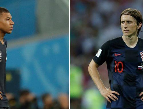 Finalkampen mellan Frankrike och Kroatien är här