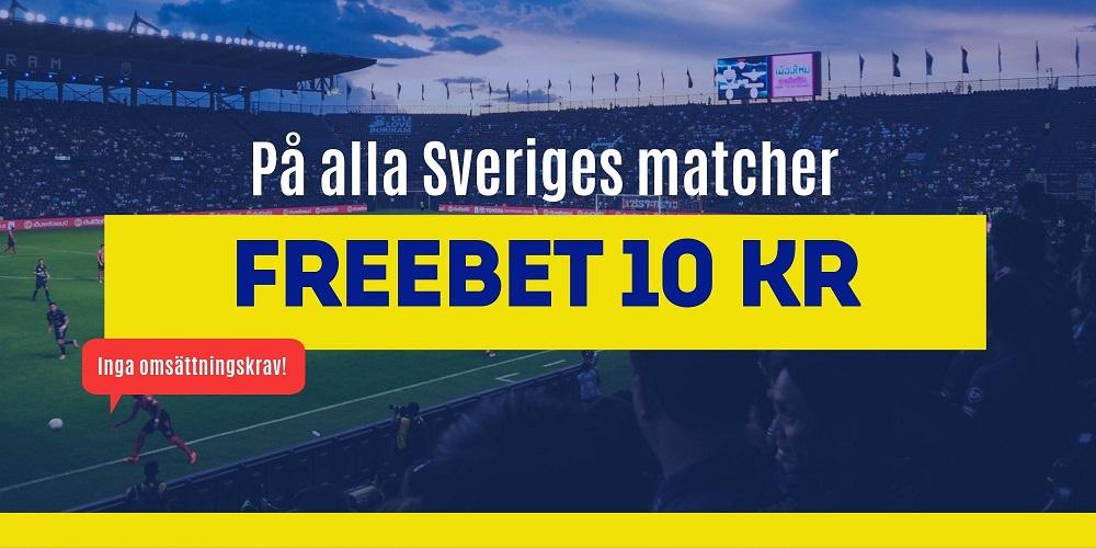 Freebet Sveriges matcher