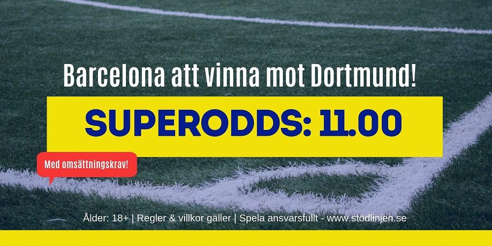 Superodds Dortmund Barcelona