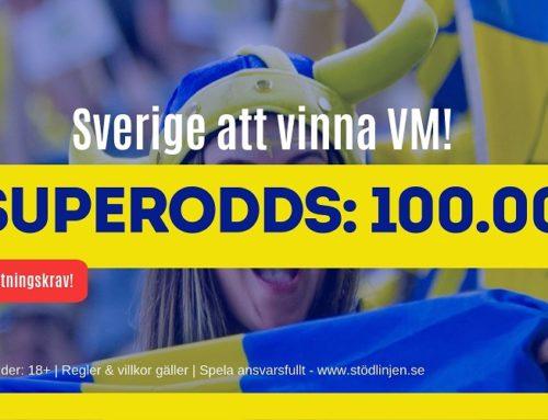 Superodds: 100 i odds på att Sverige vinner Dam-VM