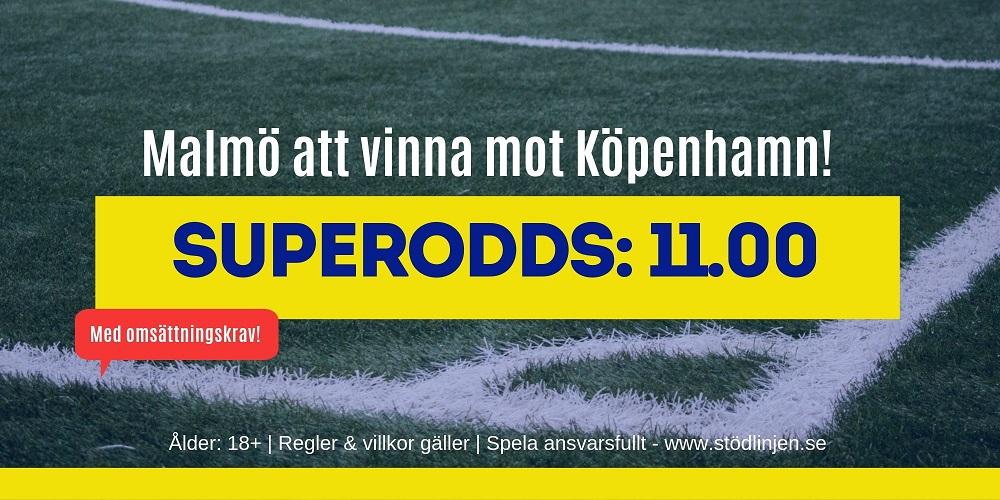 Superodds Malmö Köpenhamn