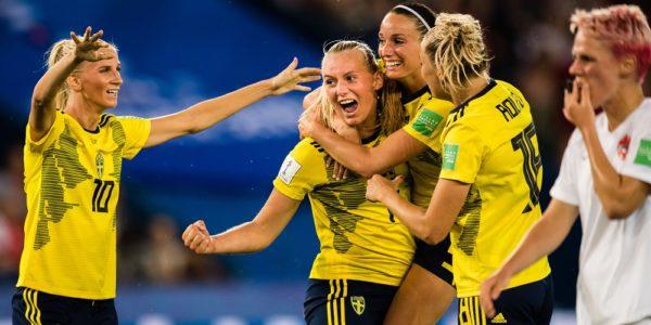 Sverige firar dam vm