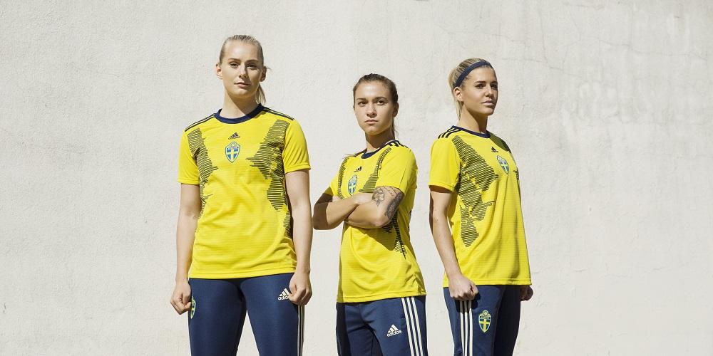 Svenska damlandslagets matchtröjor